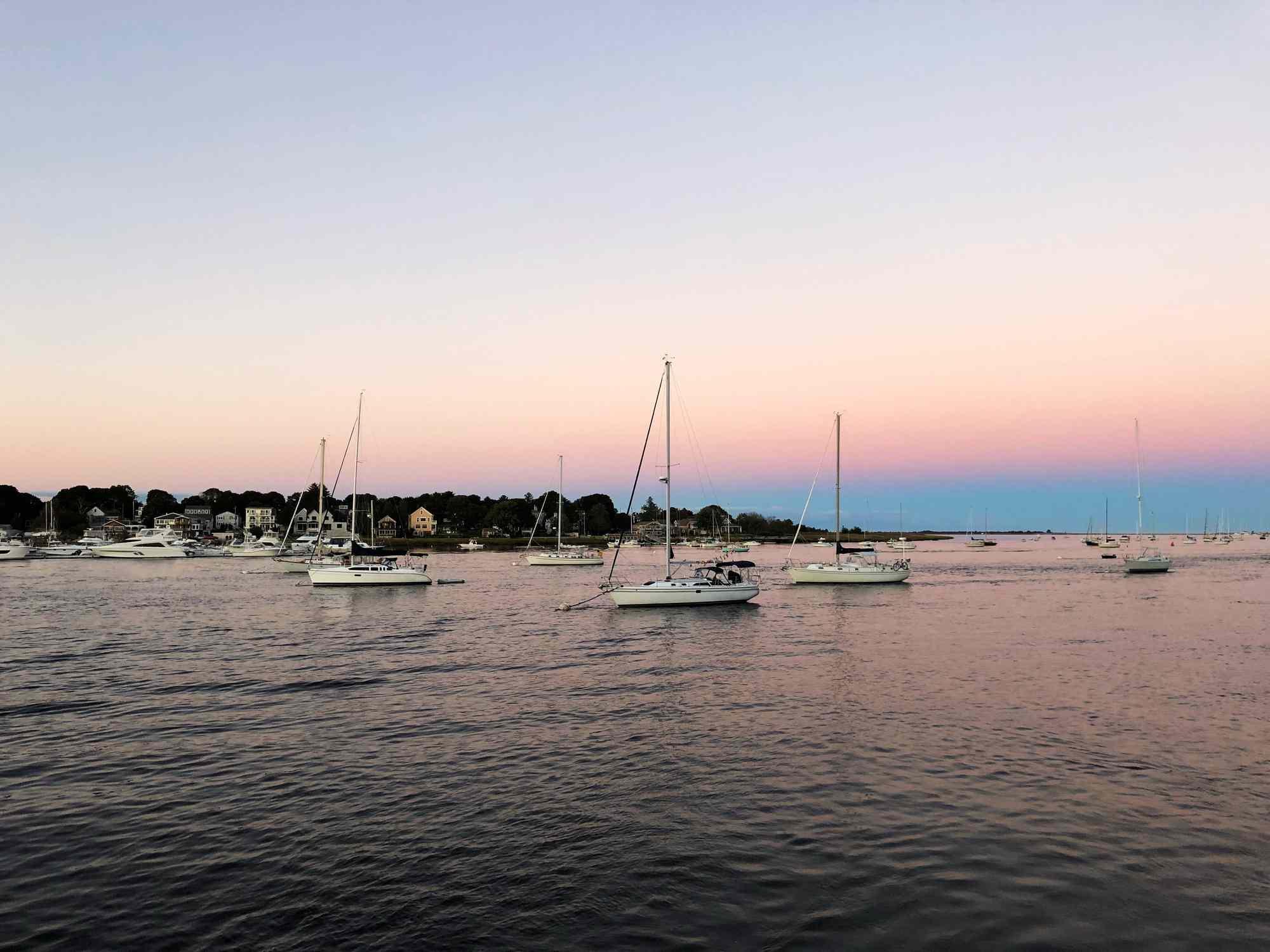 Newburyport, Massachusetts, at sunset