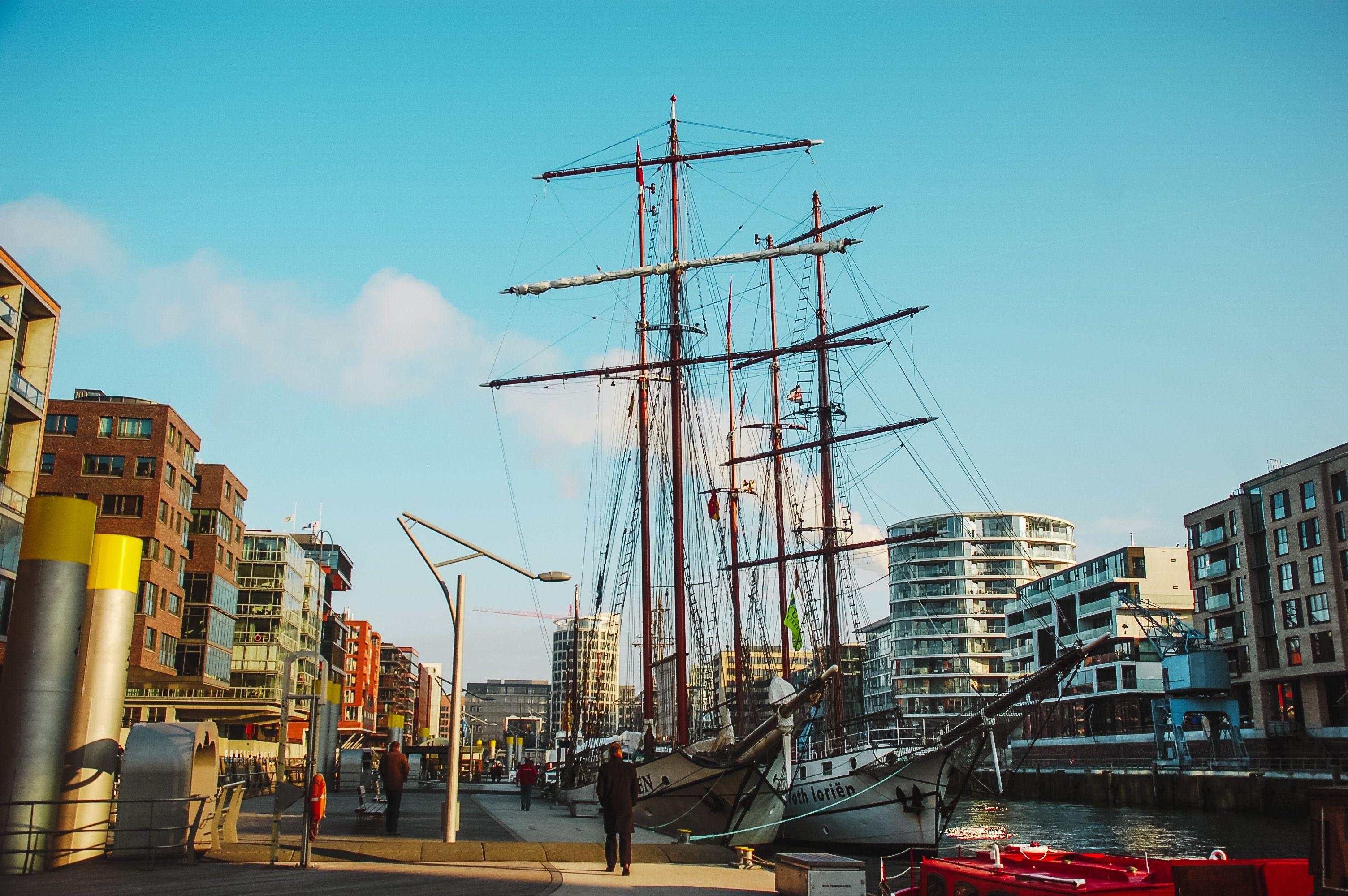 The harbor in Hamburg