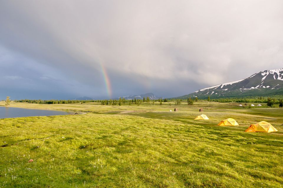 Rainbows over Mongolia