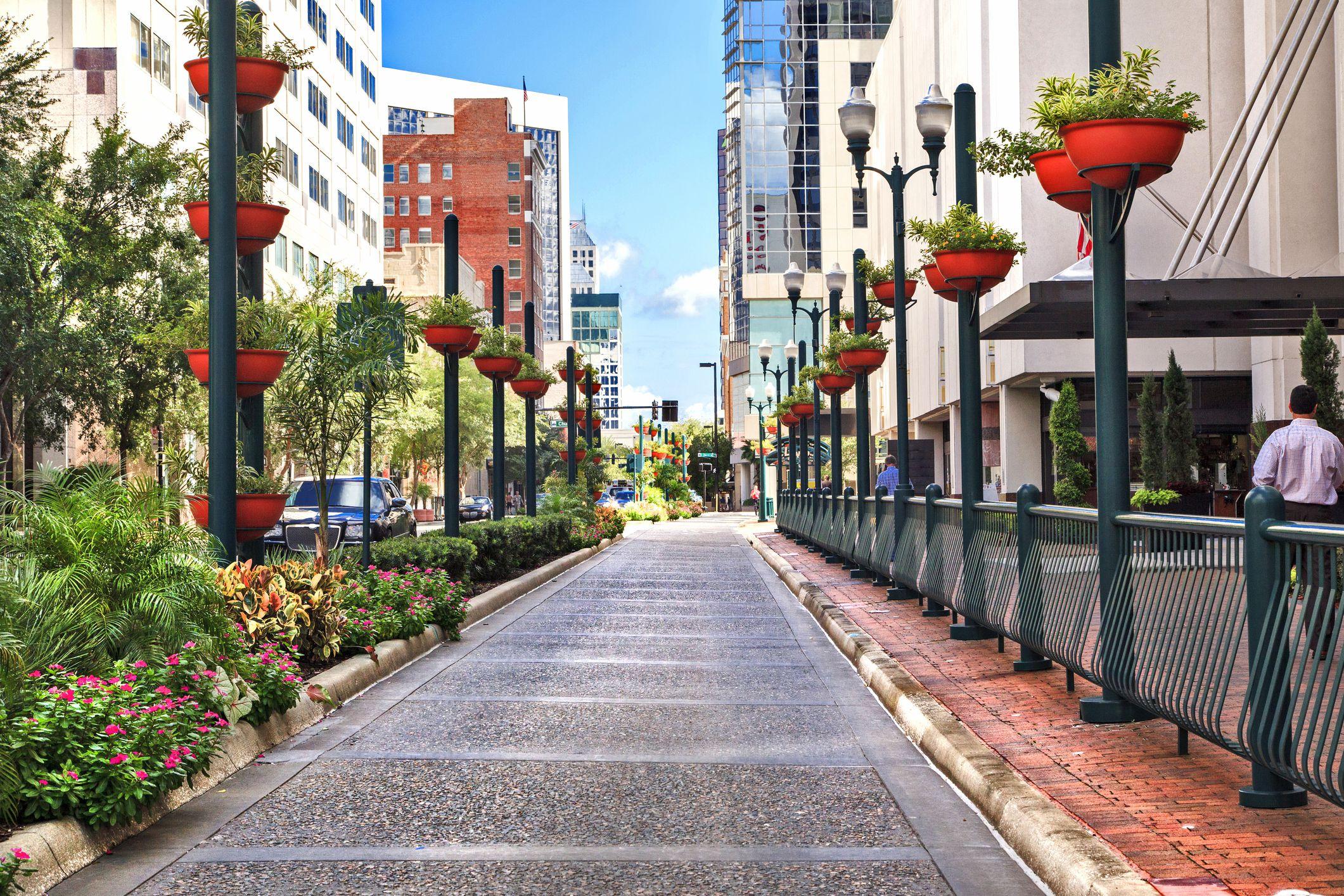 Orlando, Florida, city street view