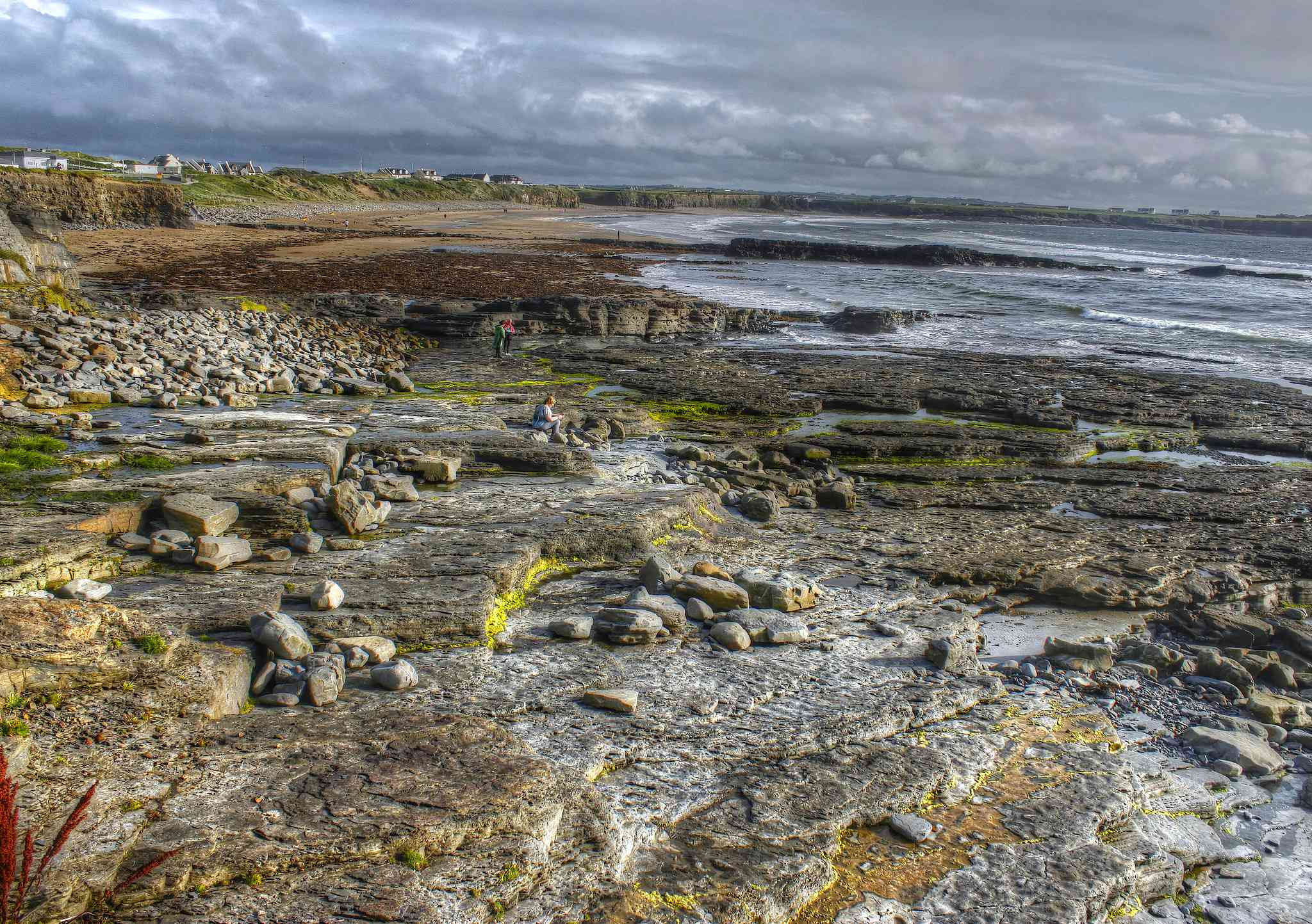 rocky shore at spanish point county Clare