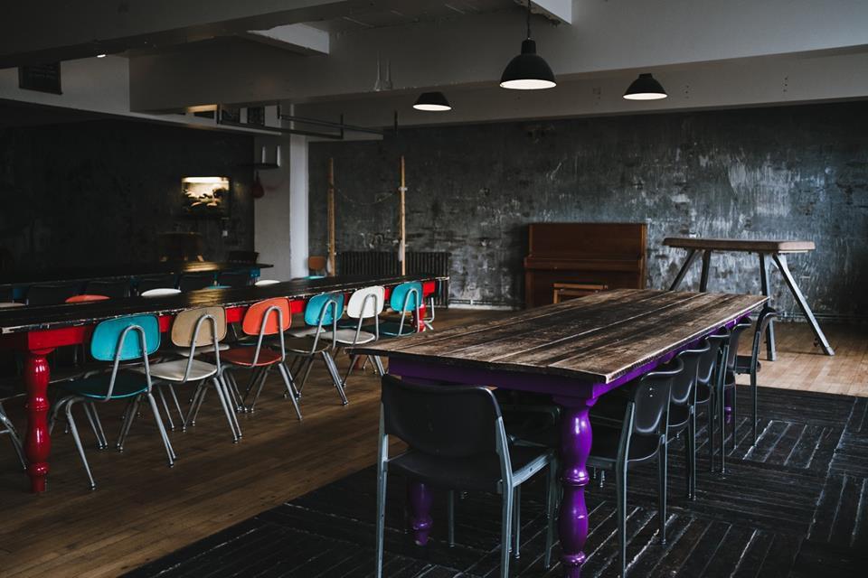 Kex Hostel dining tables
