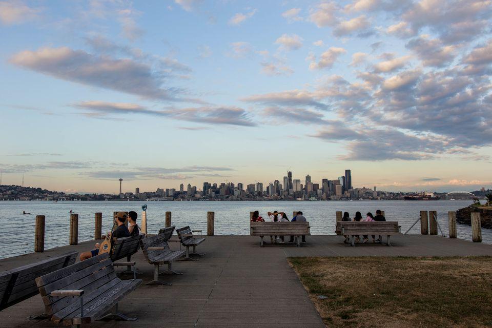Alki Beach in Seattle, Washington