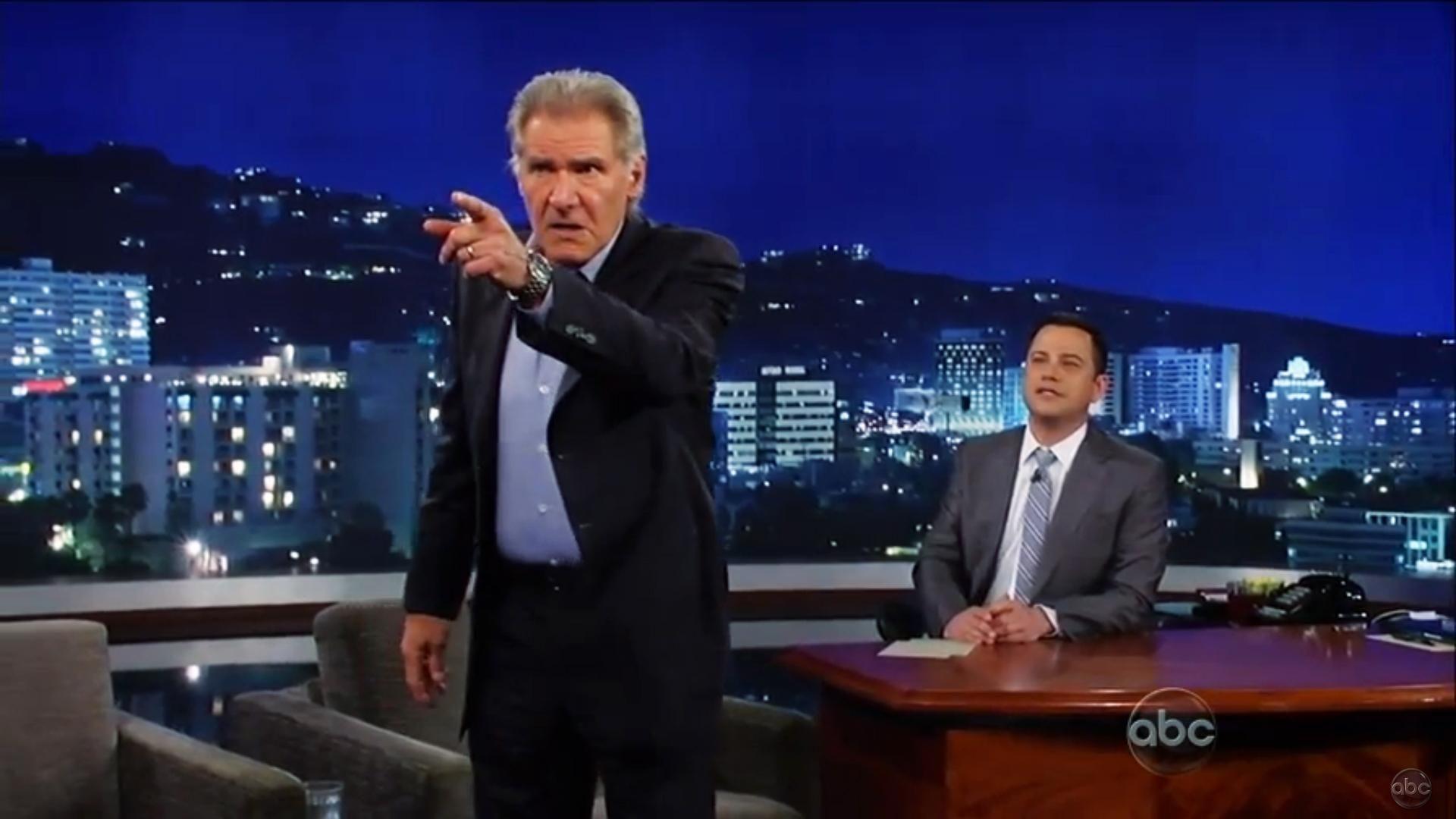 Harrison Ford se enfrenta a Chewbacca en Jimmy Kimmel Live