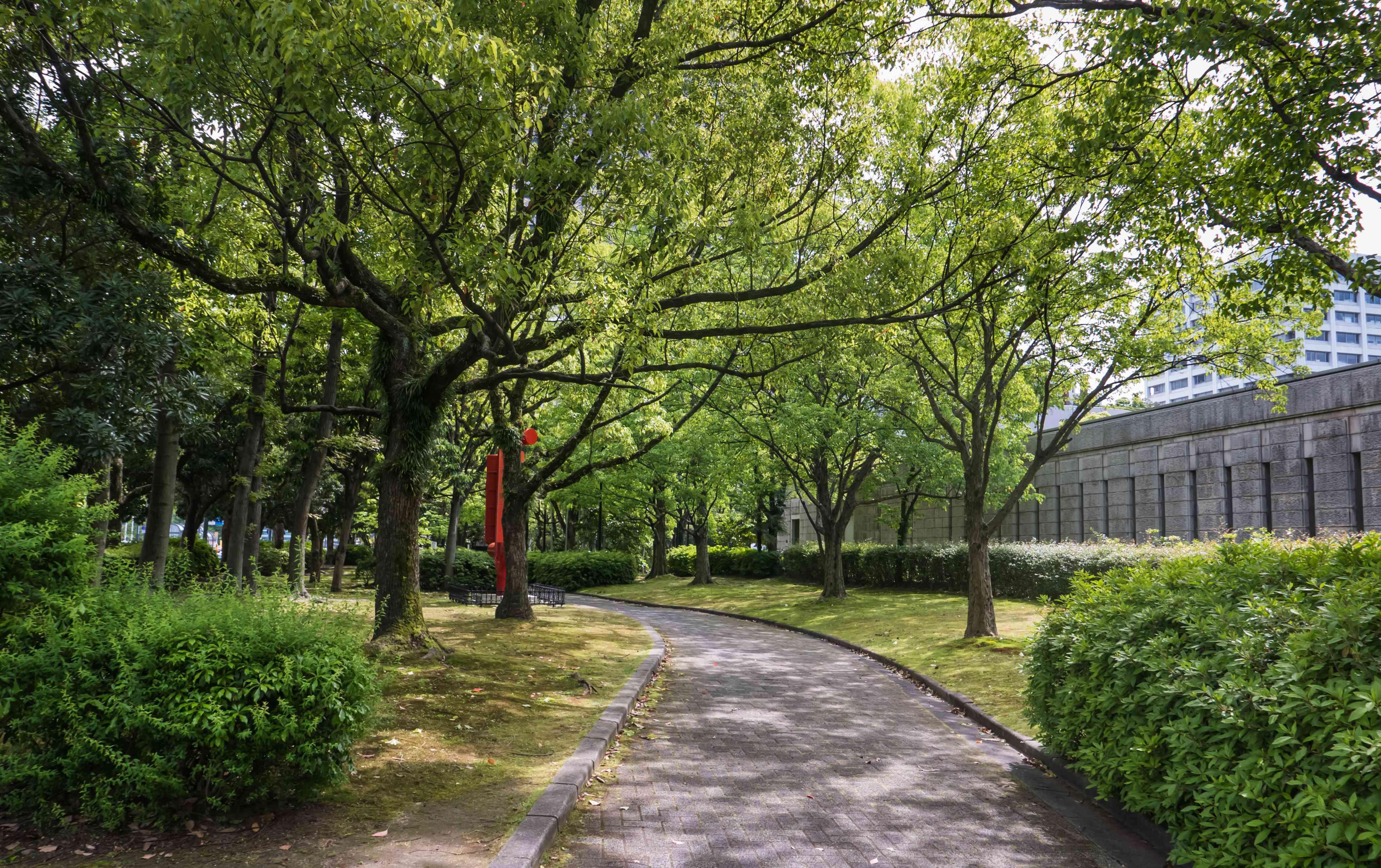 Garden of Hiroshima museum of art in Hiroshima Prefecture,