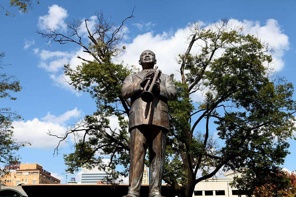 Handy statue at Handy Park in Memphis, Tennessee
