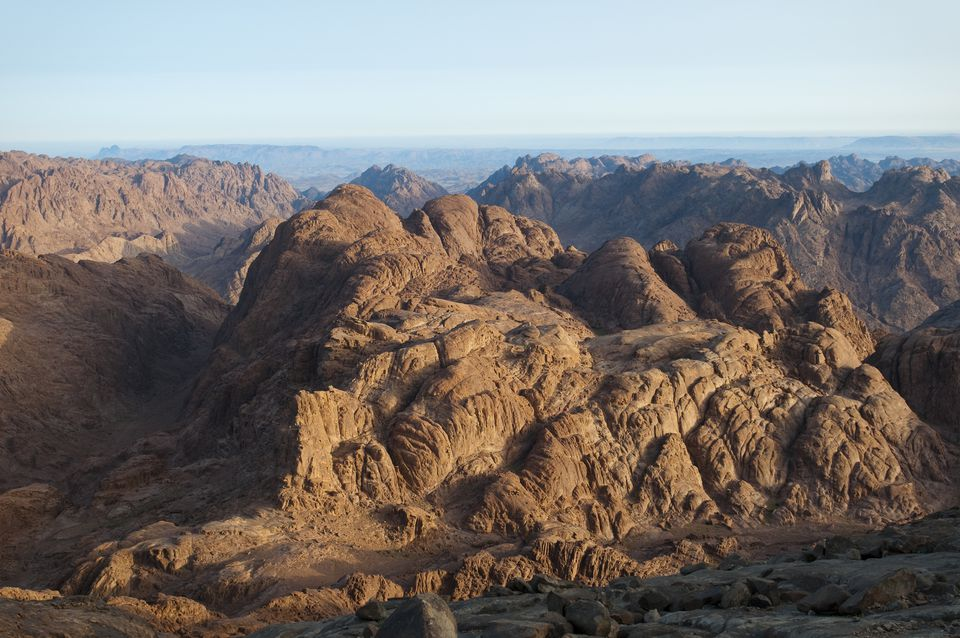 View of Mount Sinai in the early morning light, Egypt