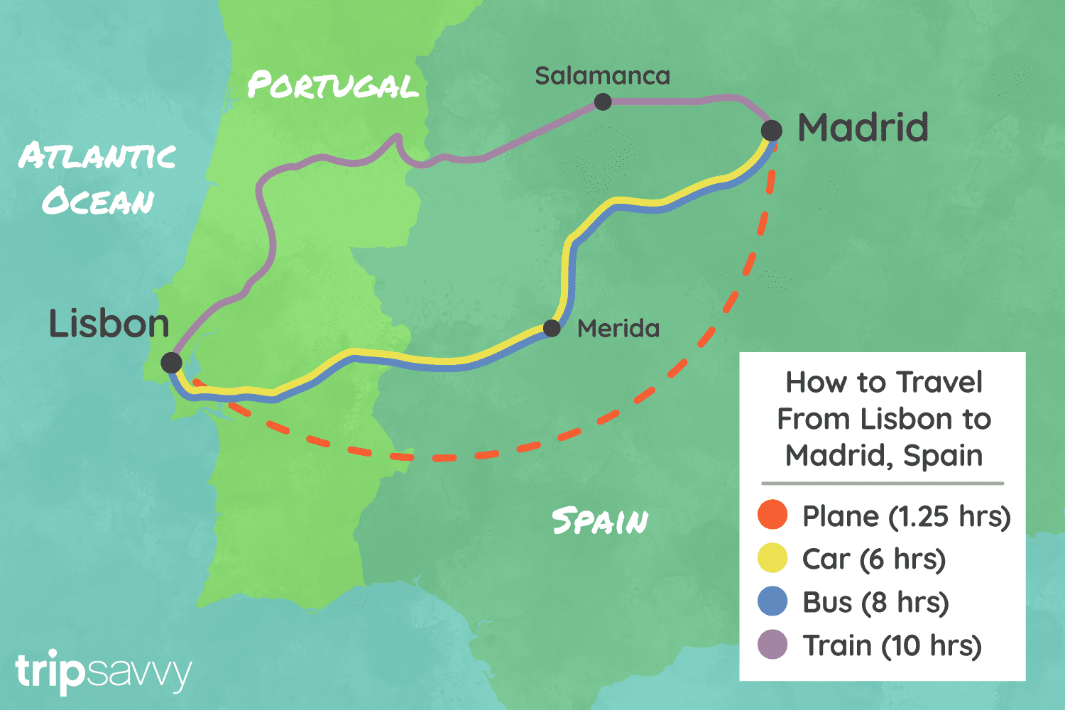 Lisbon Spain Map.Traveling From Lisbon To Madrid