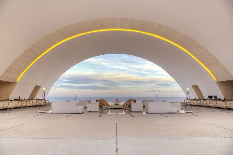 The lobby at the Marquis Los Cabos