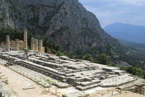 Temple of Apollo, ca 330 BC, Delphi (UNESCO World Heritage List, 1987), Greece, Greek civilization, 4th century BC