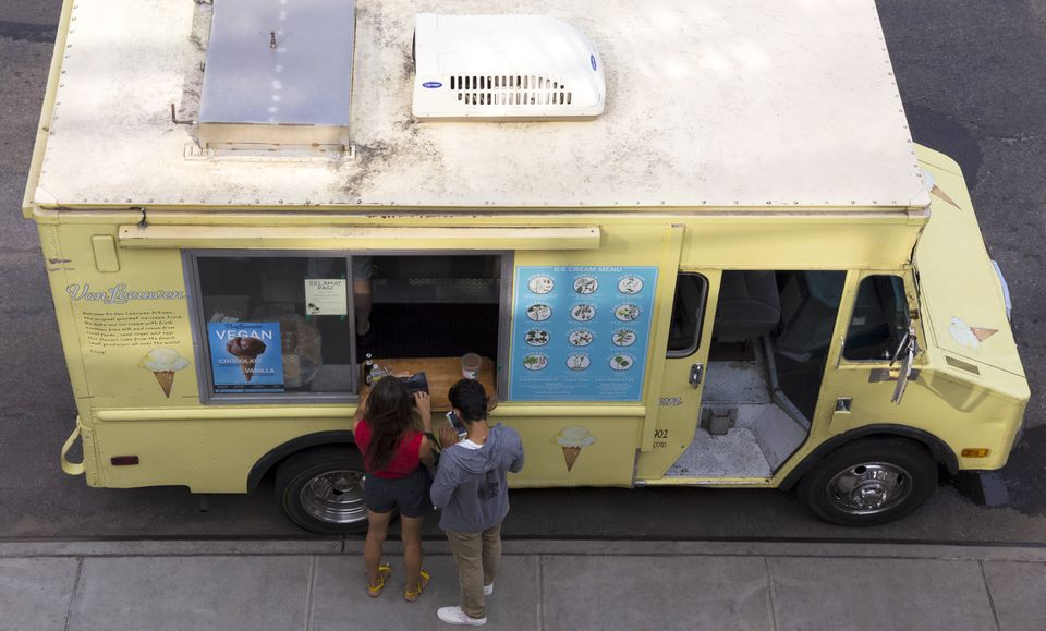 Food Truck in the Meatpacking District, Manhattan, New York City, USA, North America