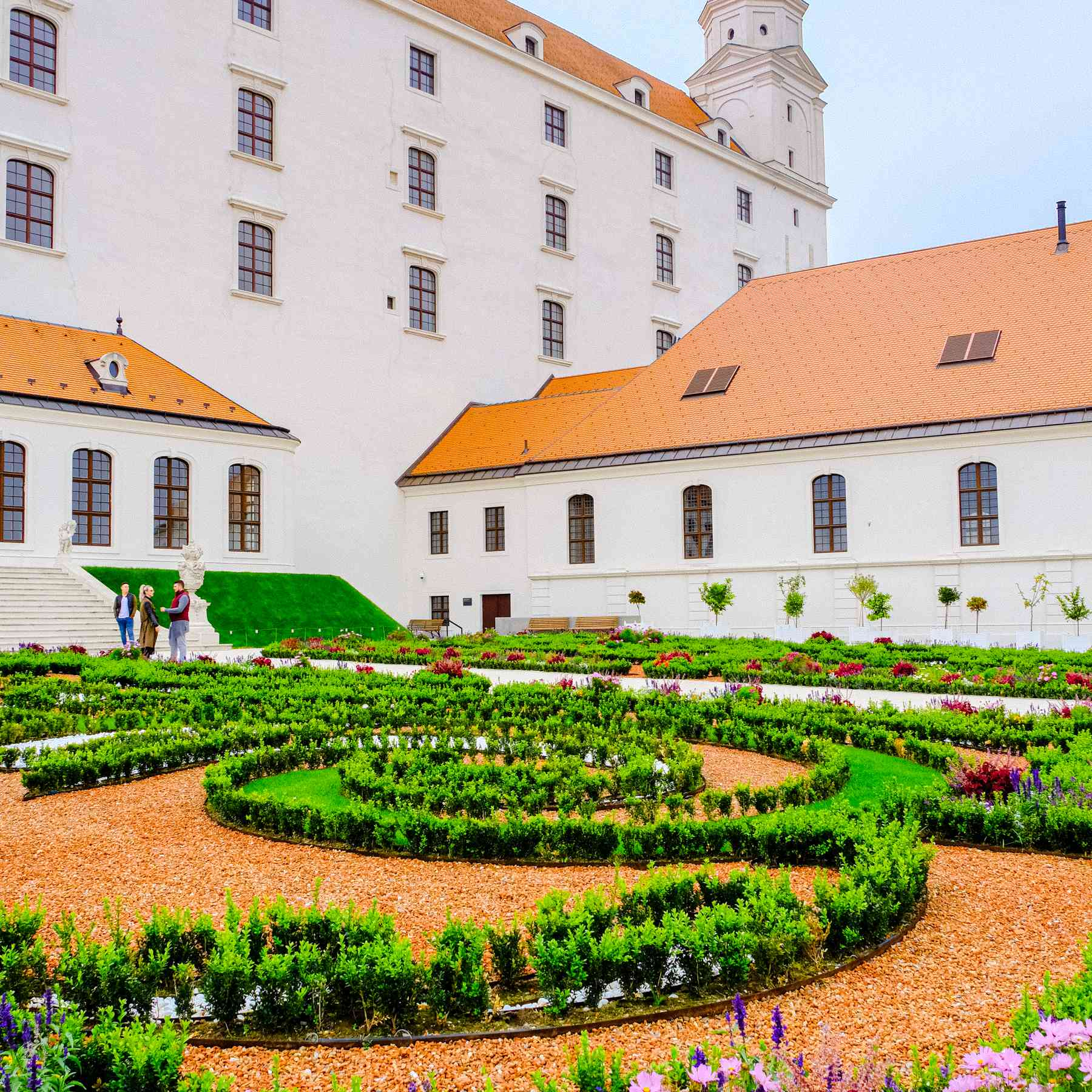 Jardines en el Castillo de Bratislava