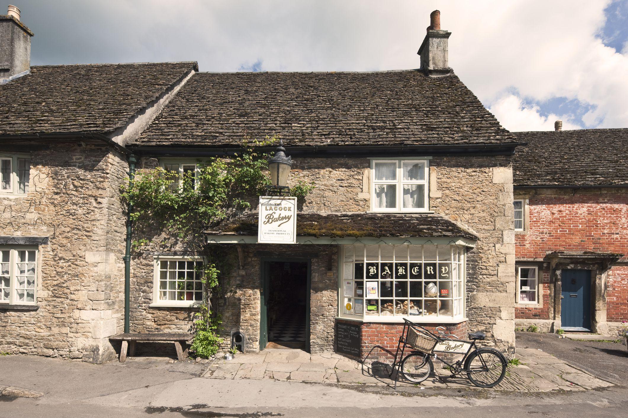 Lacock village bakery, Lacock, Wiltshire, England