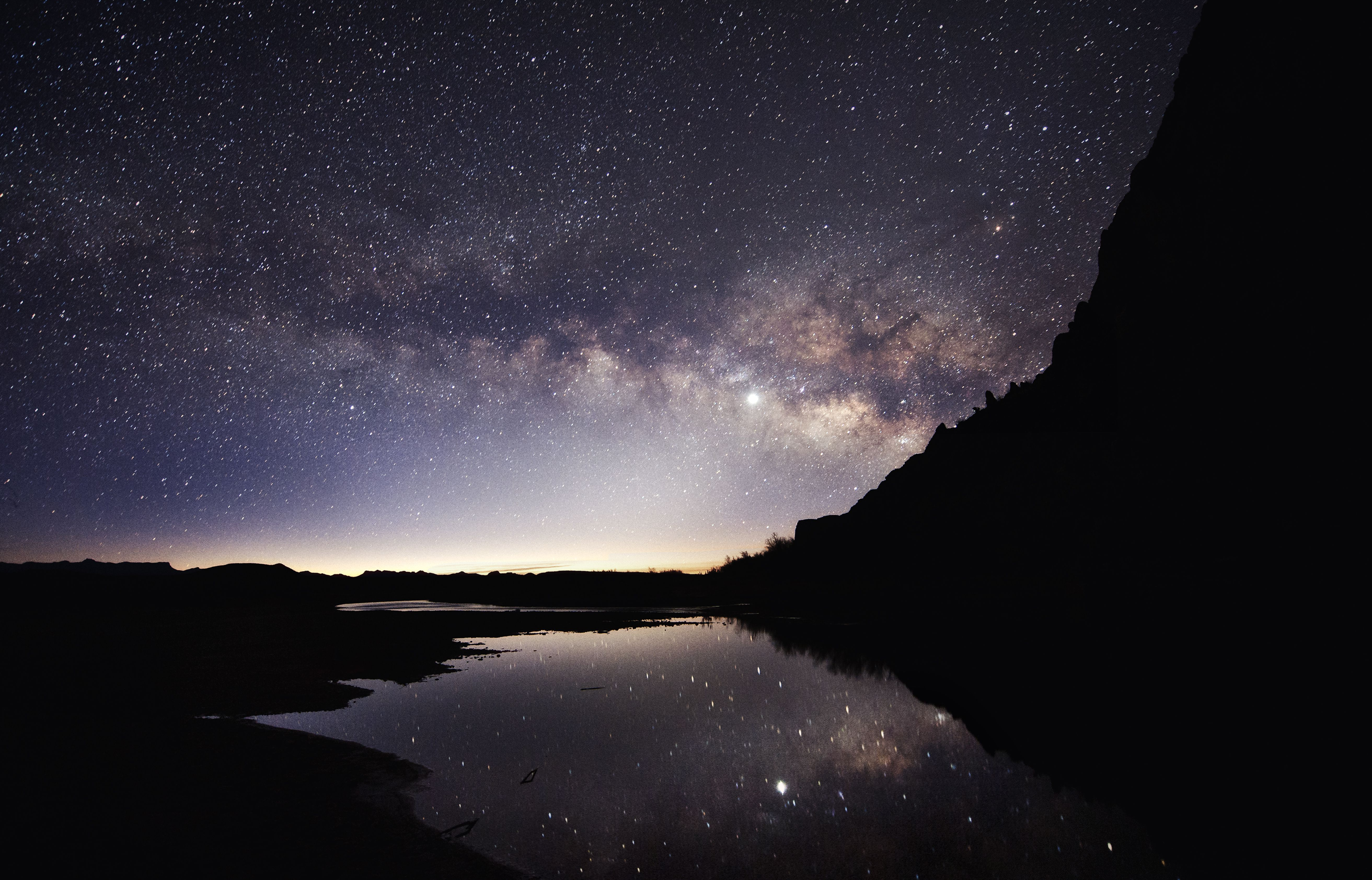 The Milky Way rises in Big Bend