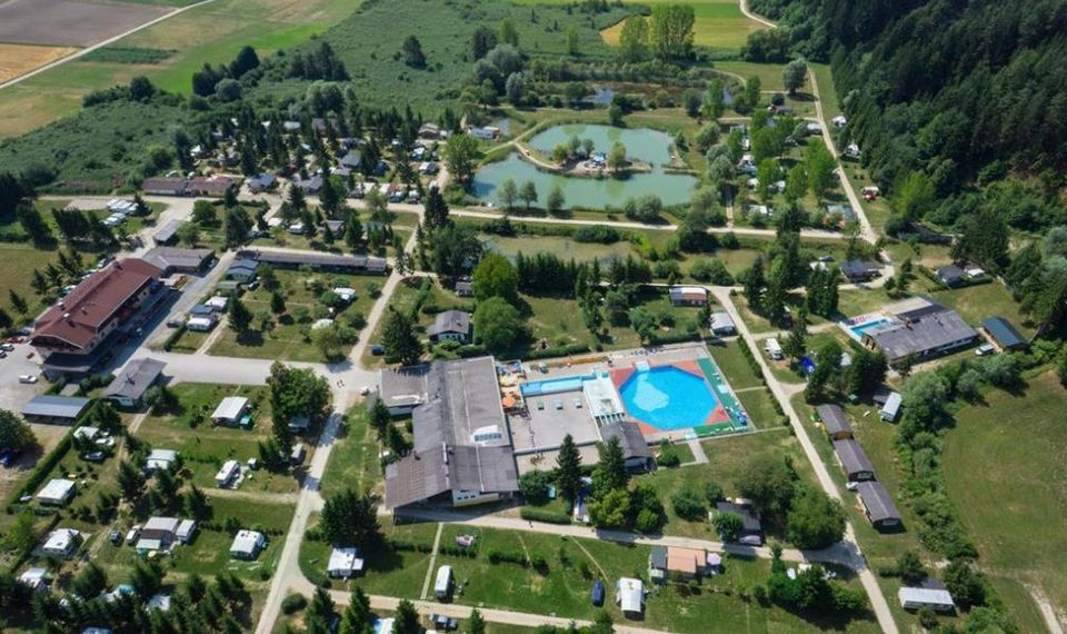 Appartementhotel arial view