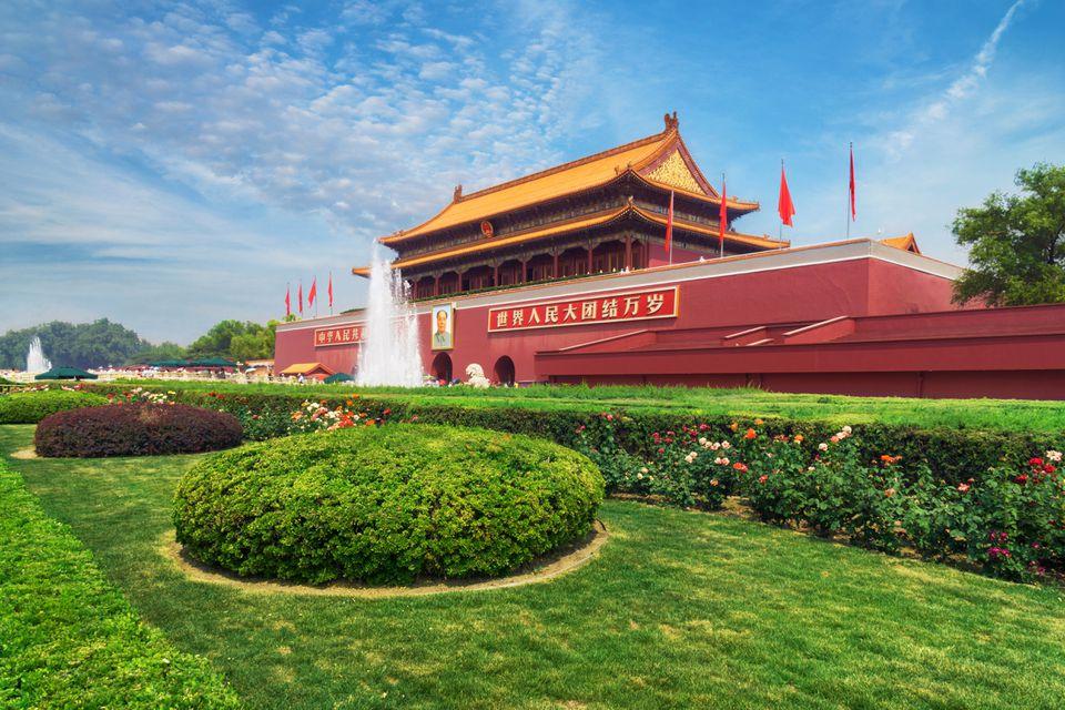 Forbidden City in Beijing, China, in June