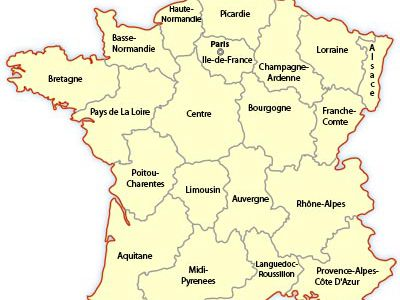 Regional Map of France | Europe Travel
