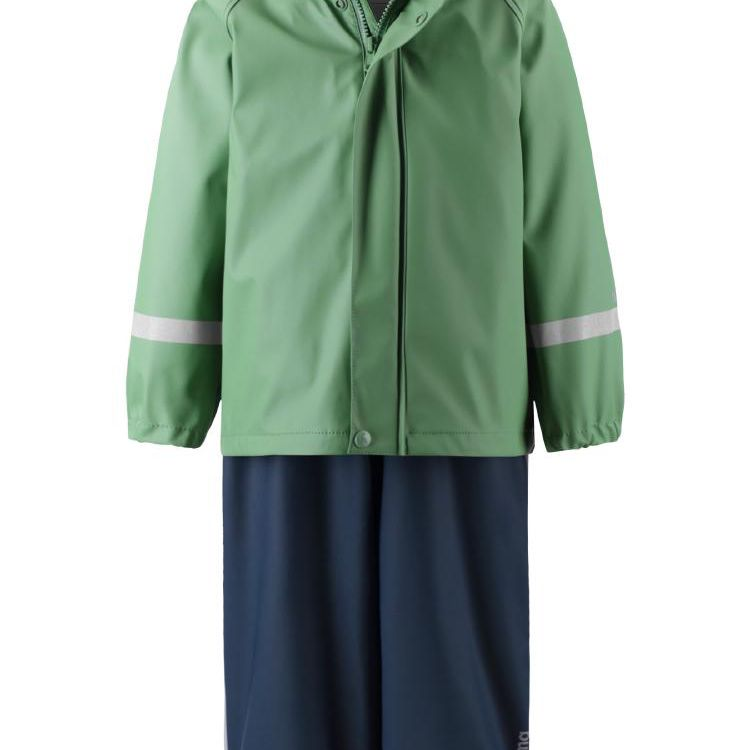 Reima Waterproof Raincoat and Suspenders Two-Piece Outfit