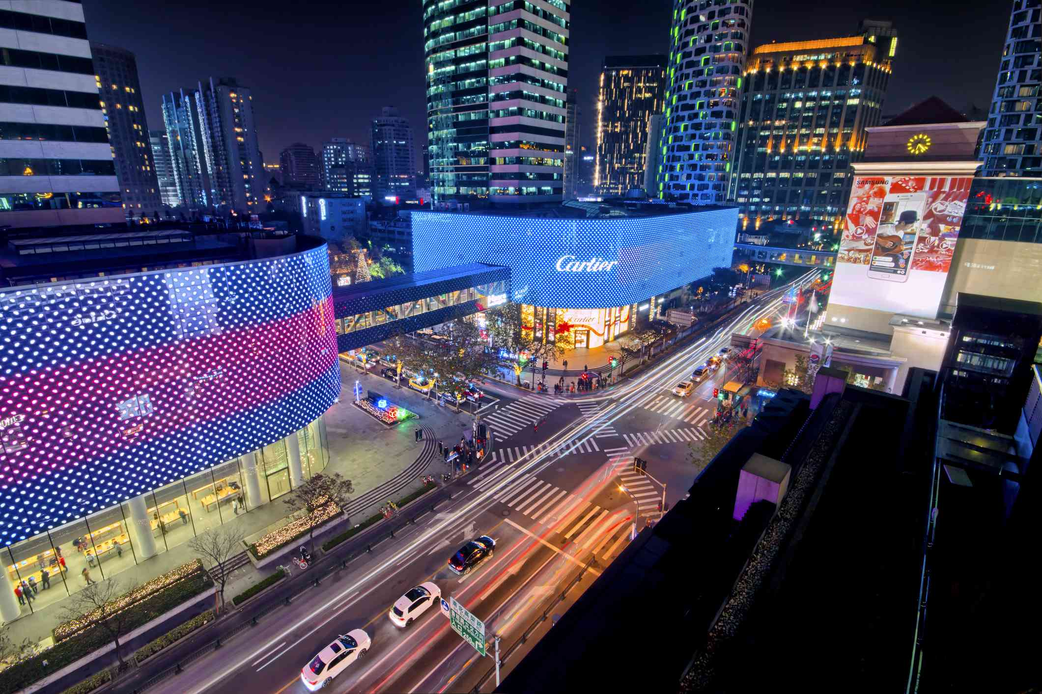 Shanghai Huaihai Road at night