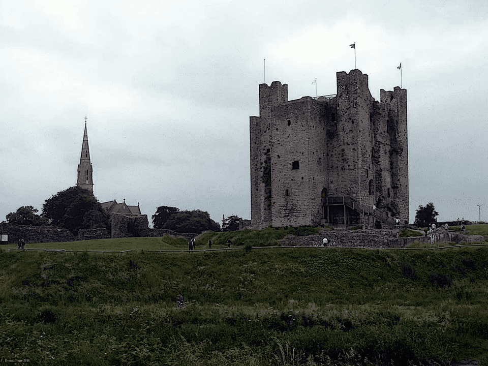 Trim Castle in County Meath - definitely high up in size and importance
