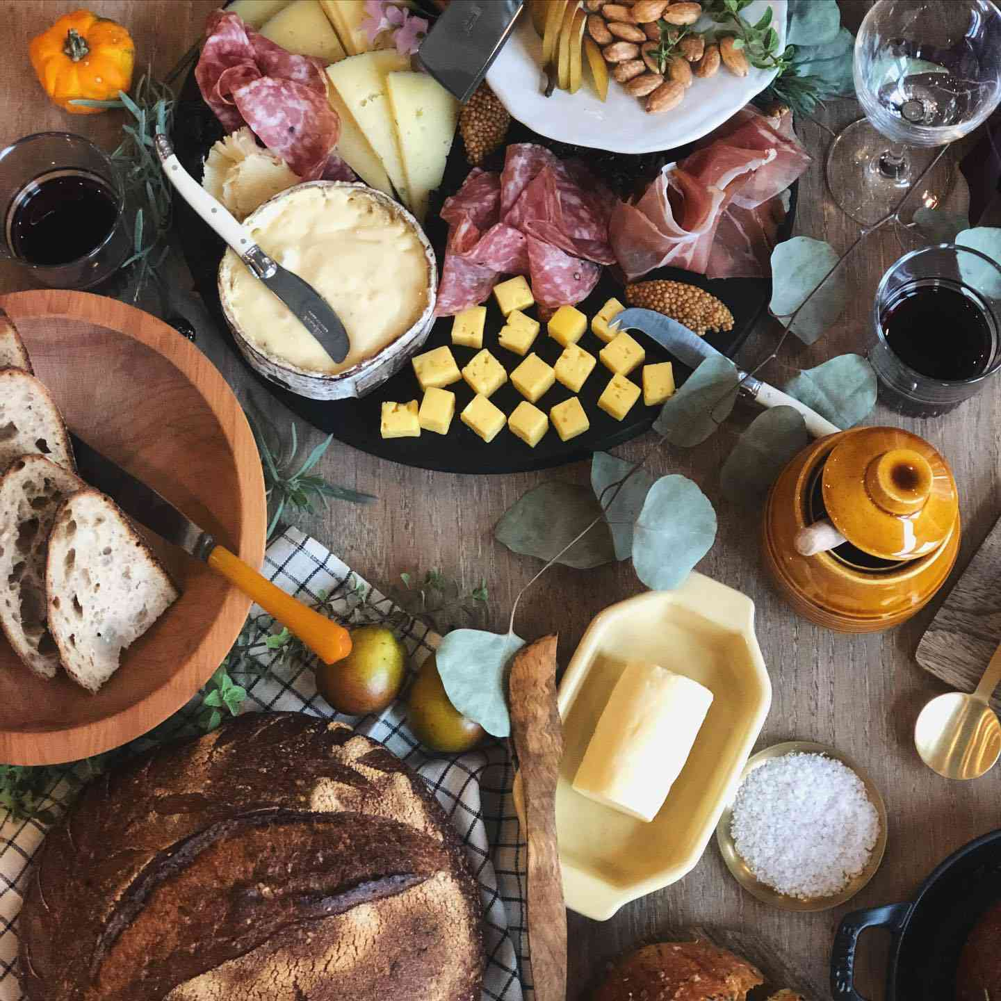 A table filled with charcuterie