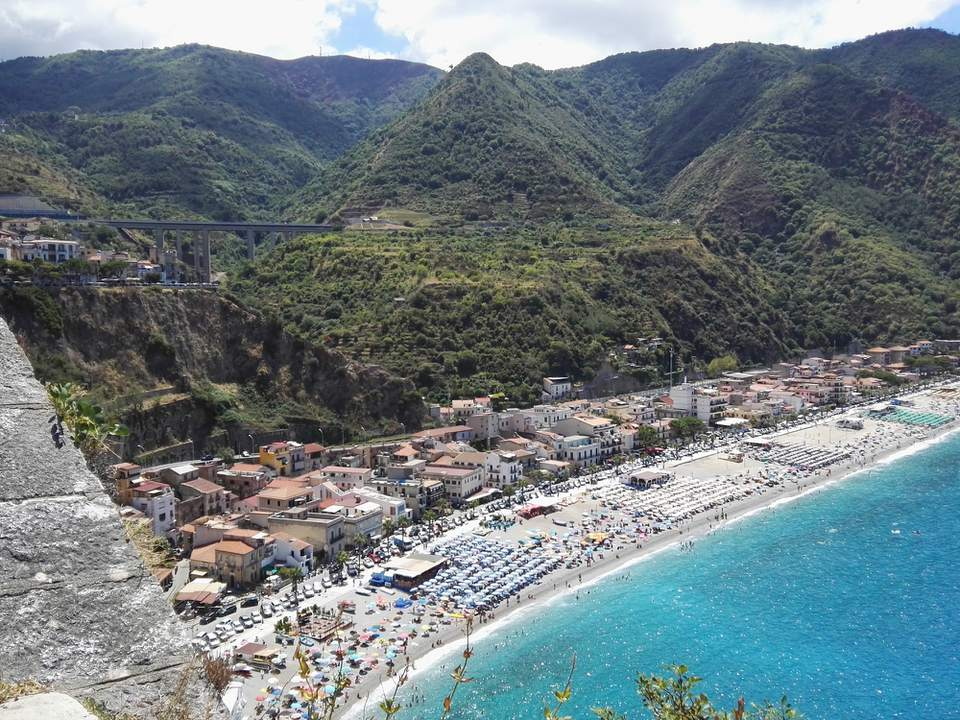View of Scilla, Italy