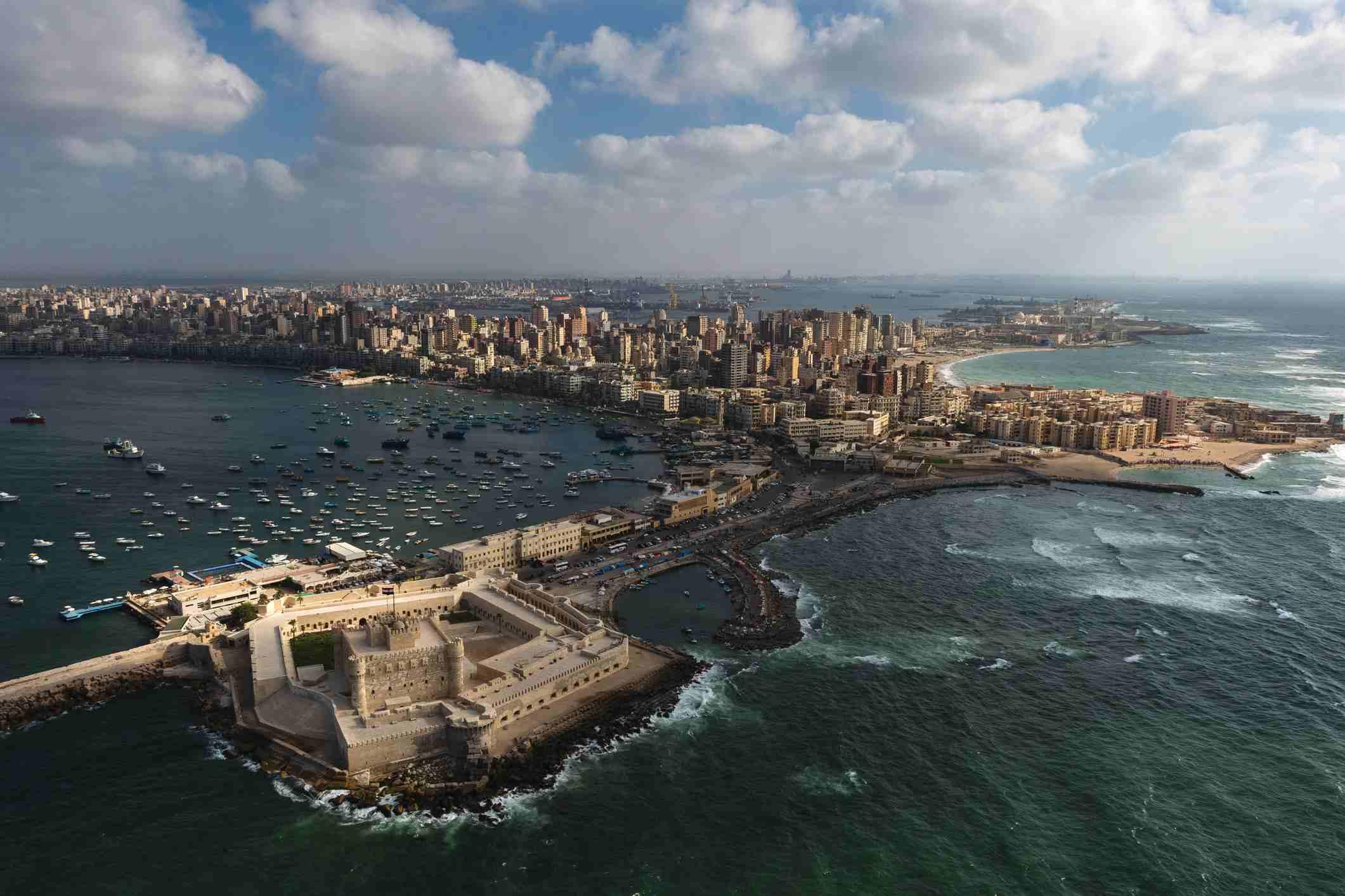 Aerial view of Alexandria, Egypt