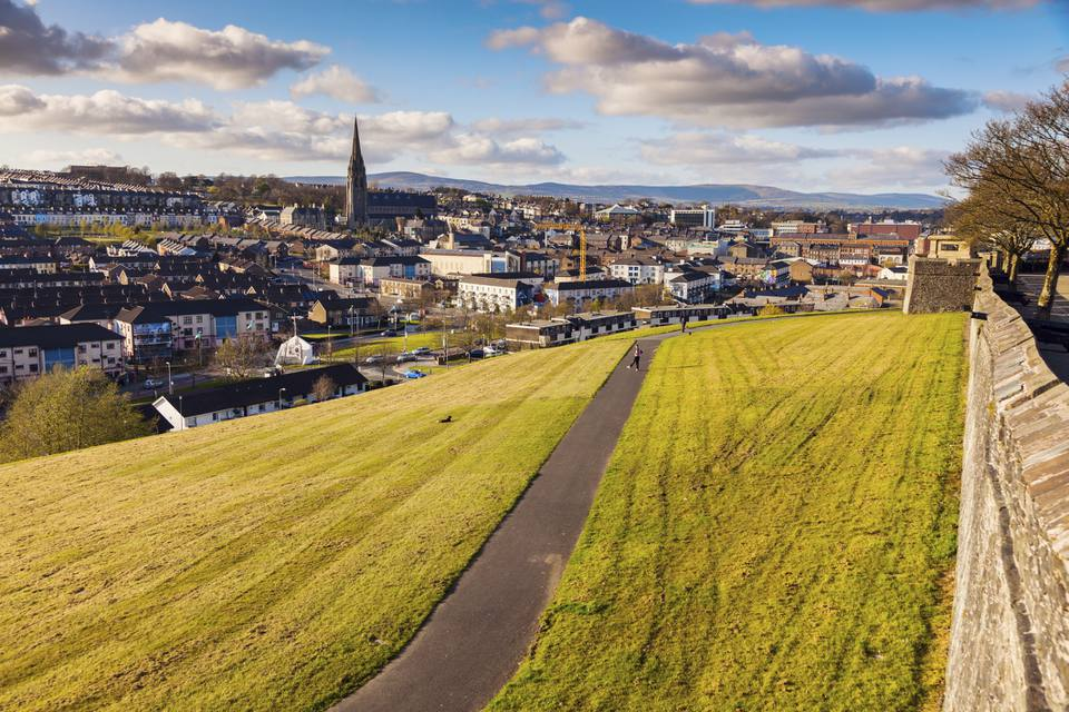 Derry, Northern Ireland, as seen from its city walls