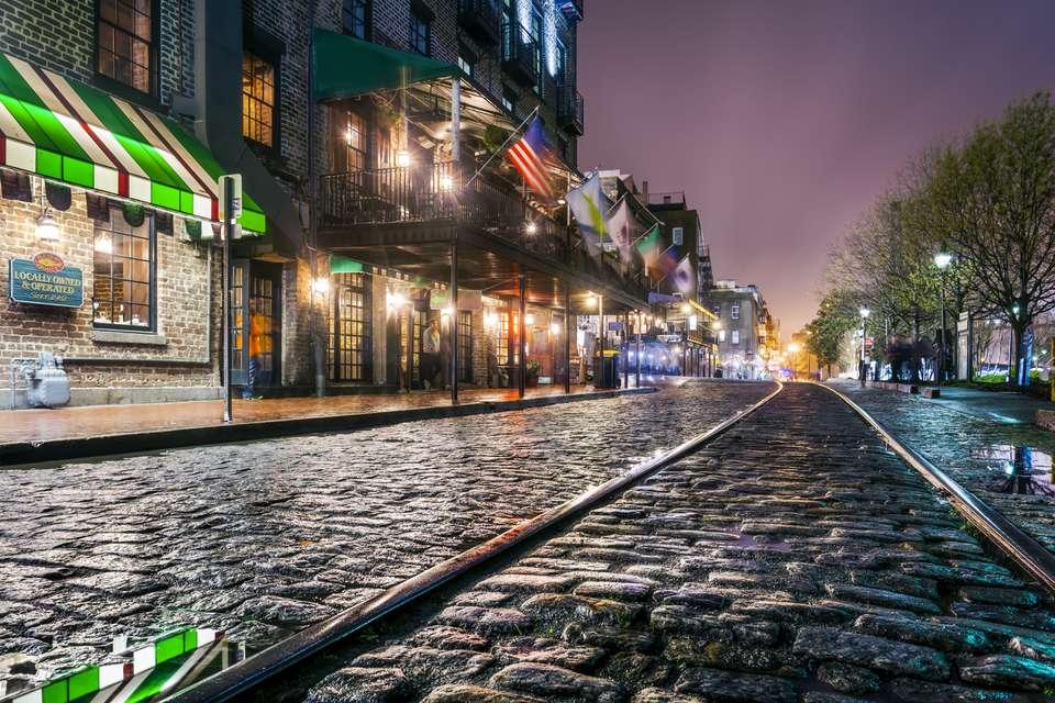 River Street, Savannah, Georgia, America