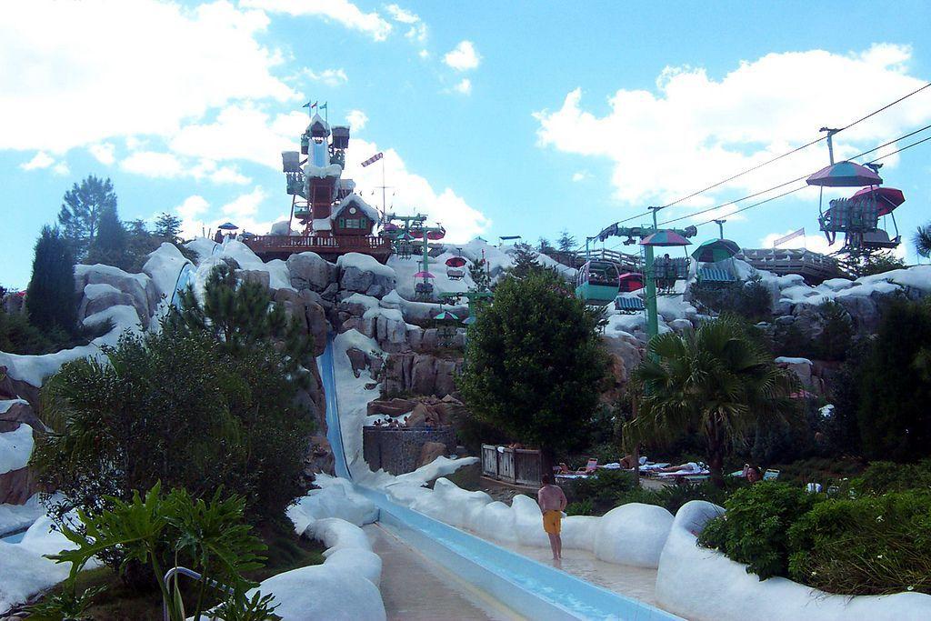 Summit Plummet water slide at Disney World