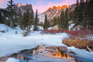 Estes Park, Colorado in winter