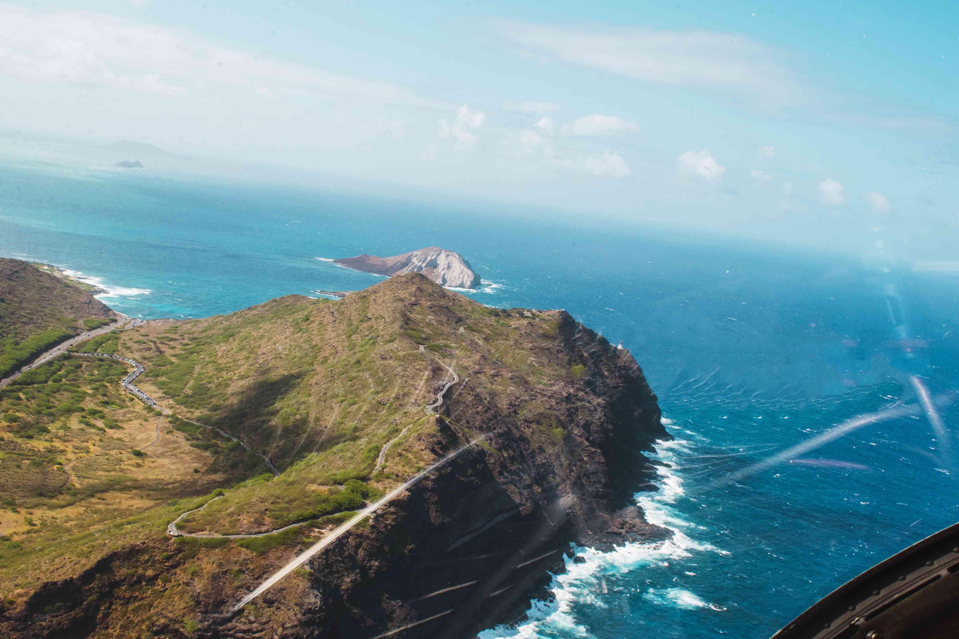 Aerial view of Makapu'u Point