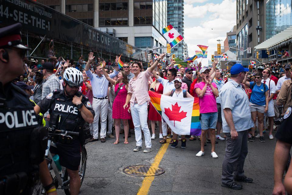 Justin Trudeau gay pride