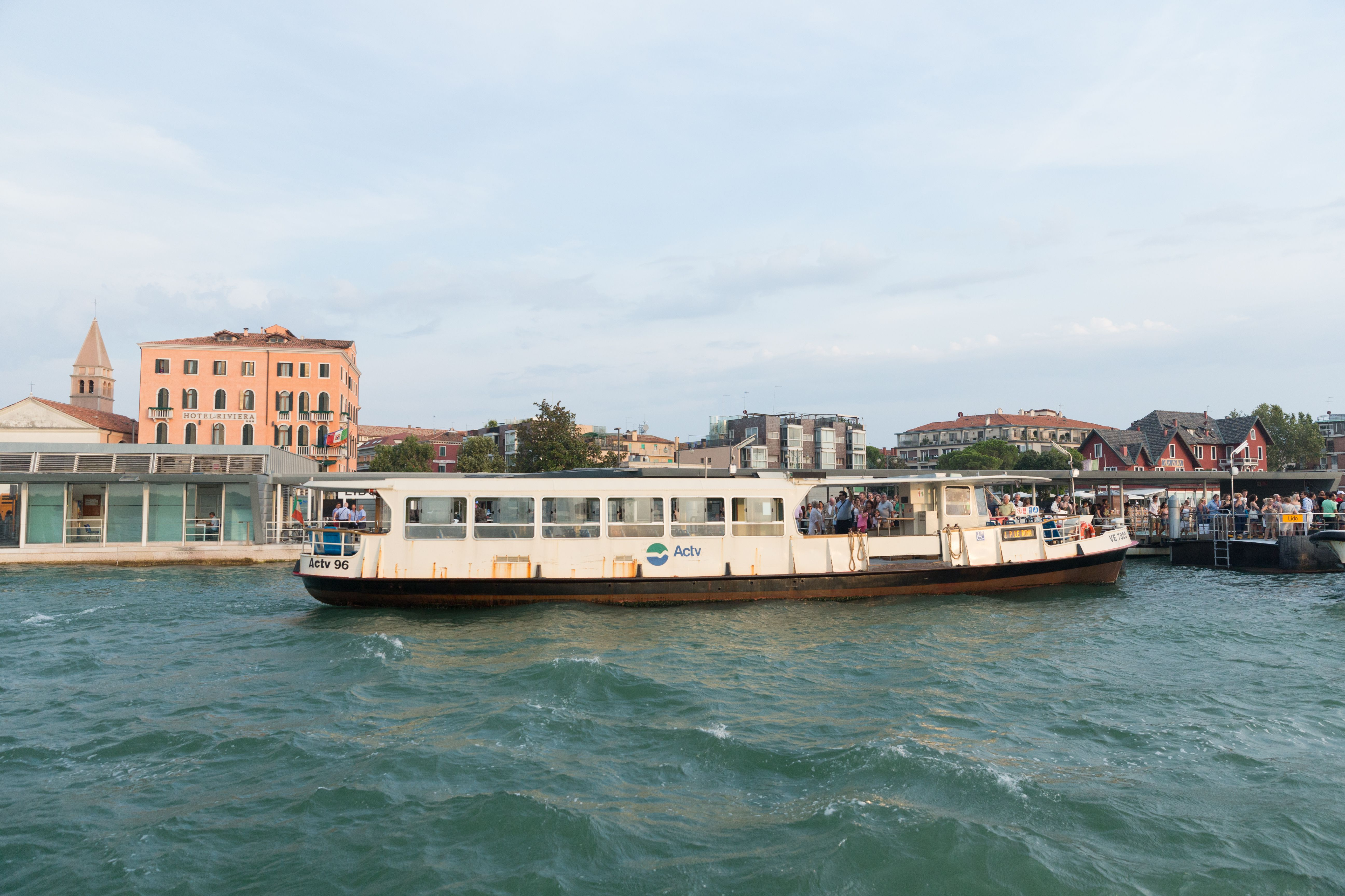 Vaporetto ferry in front of the Lido