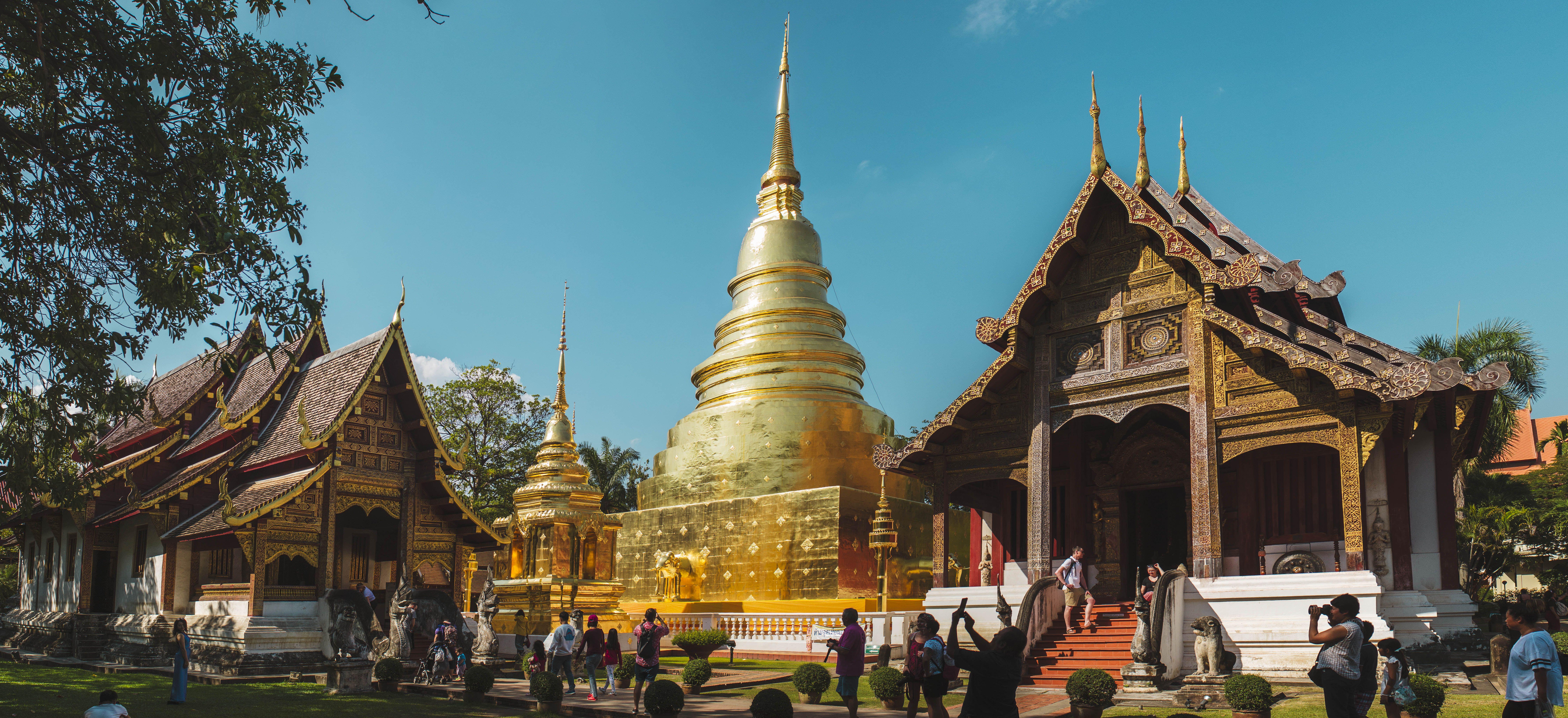 Un templo en Chiang Mai, Tailandia