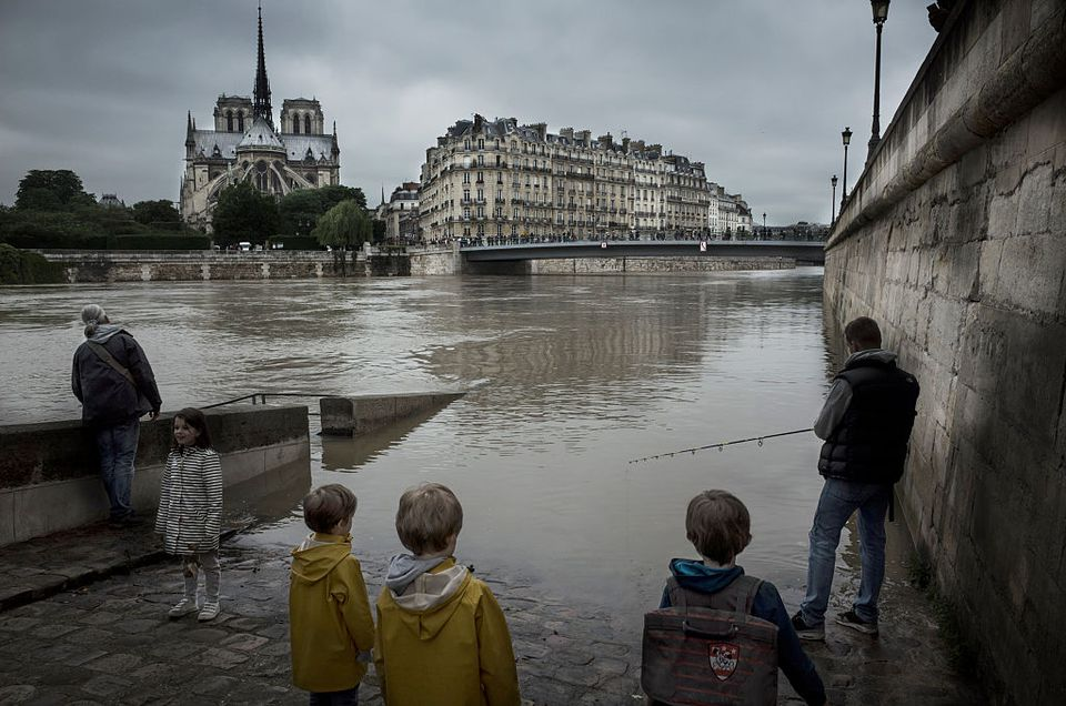 Heavy Rain Flooded Parts Of Paris