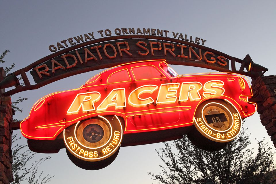 Radiator Springs Racers Sign