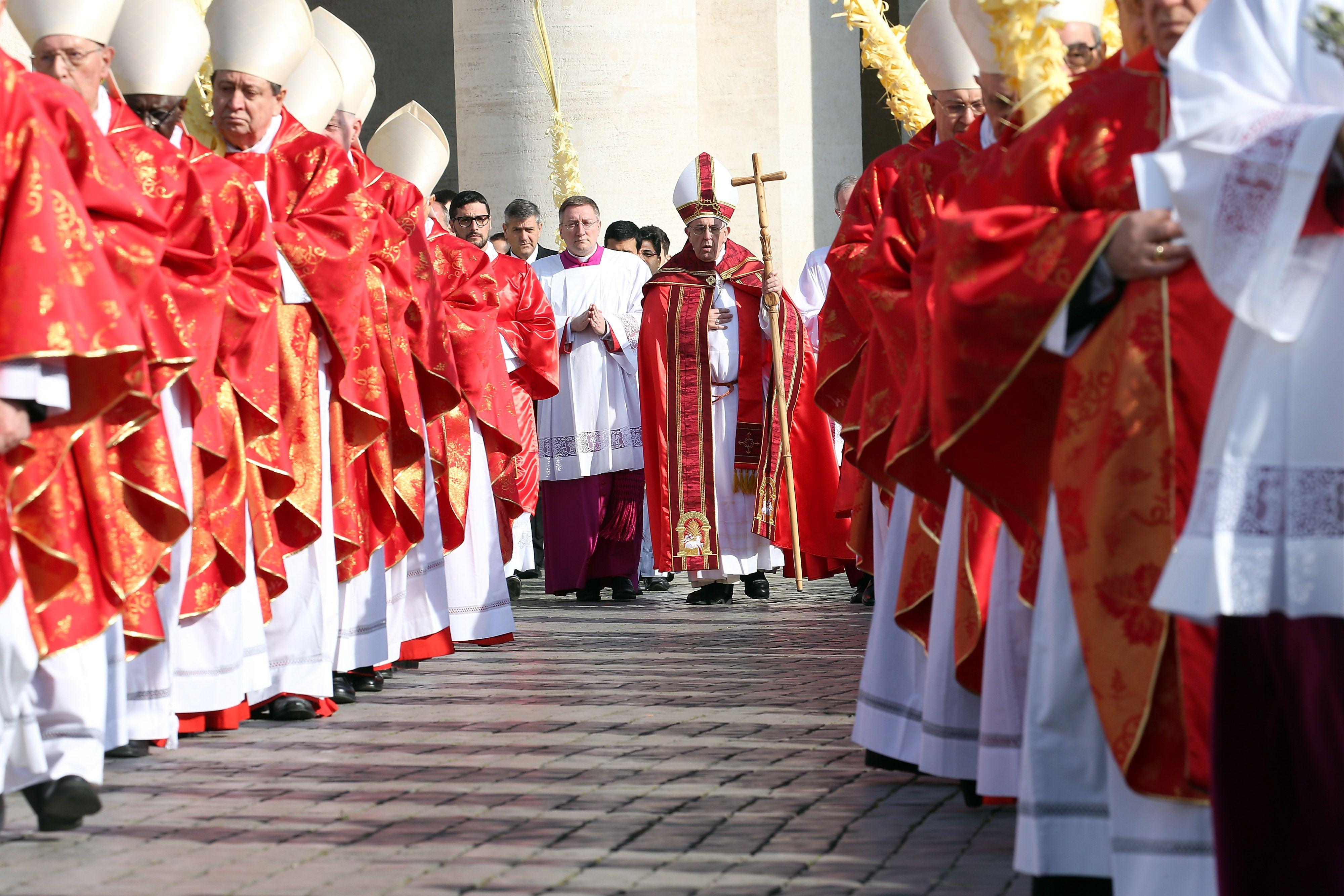 Pope Francis Attends Palm Sunday Mass