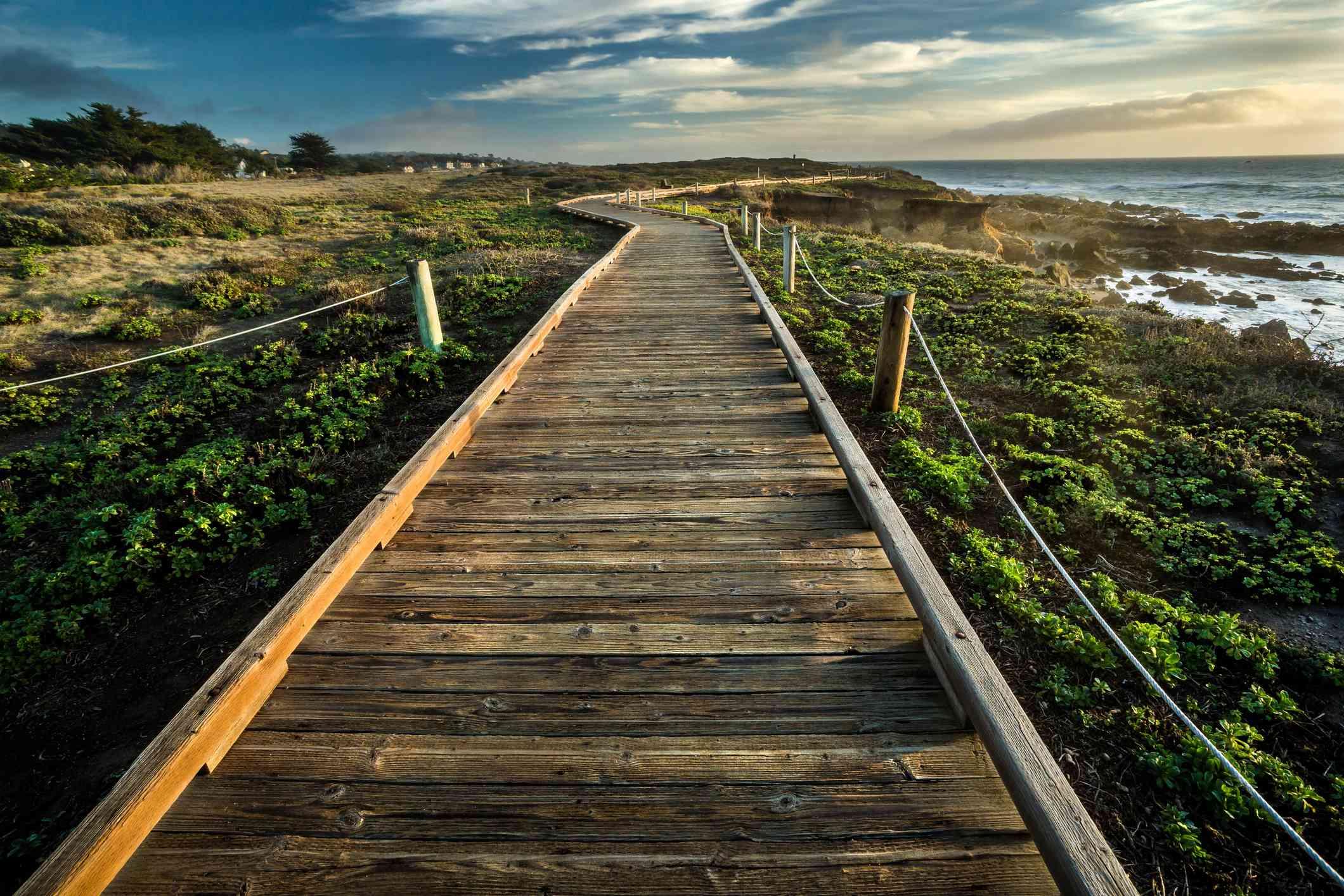 Moonstone Beach Boardwalk near San Simeon, California