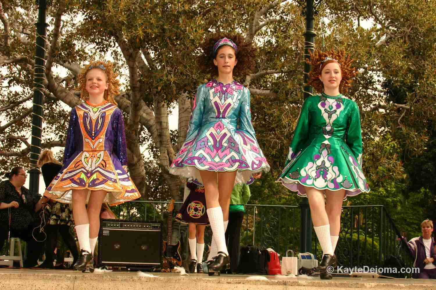 Irish Dancers at St. Patrick's Day in Los Angeles