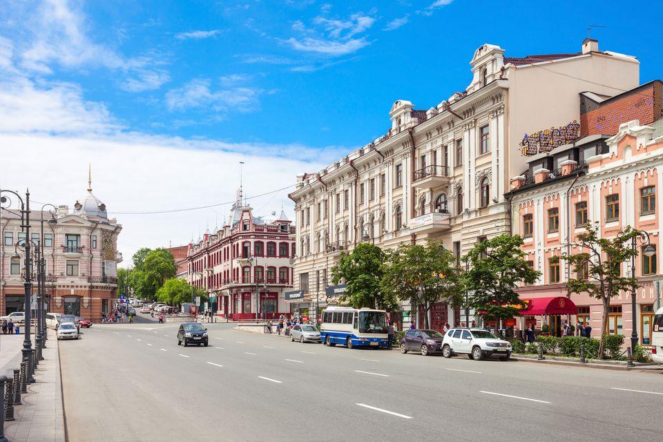 calle en Vladivostok