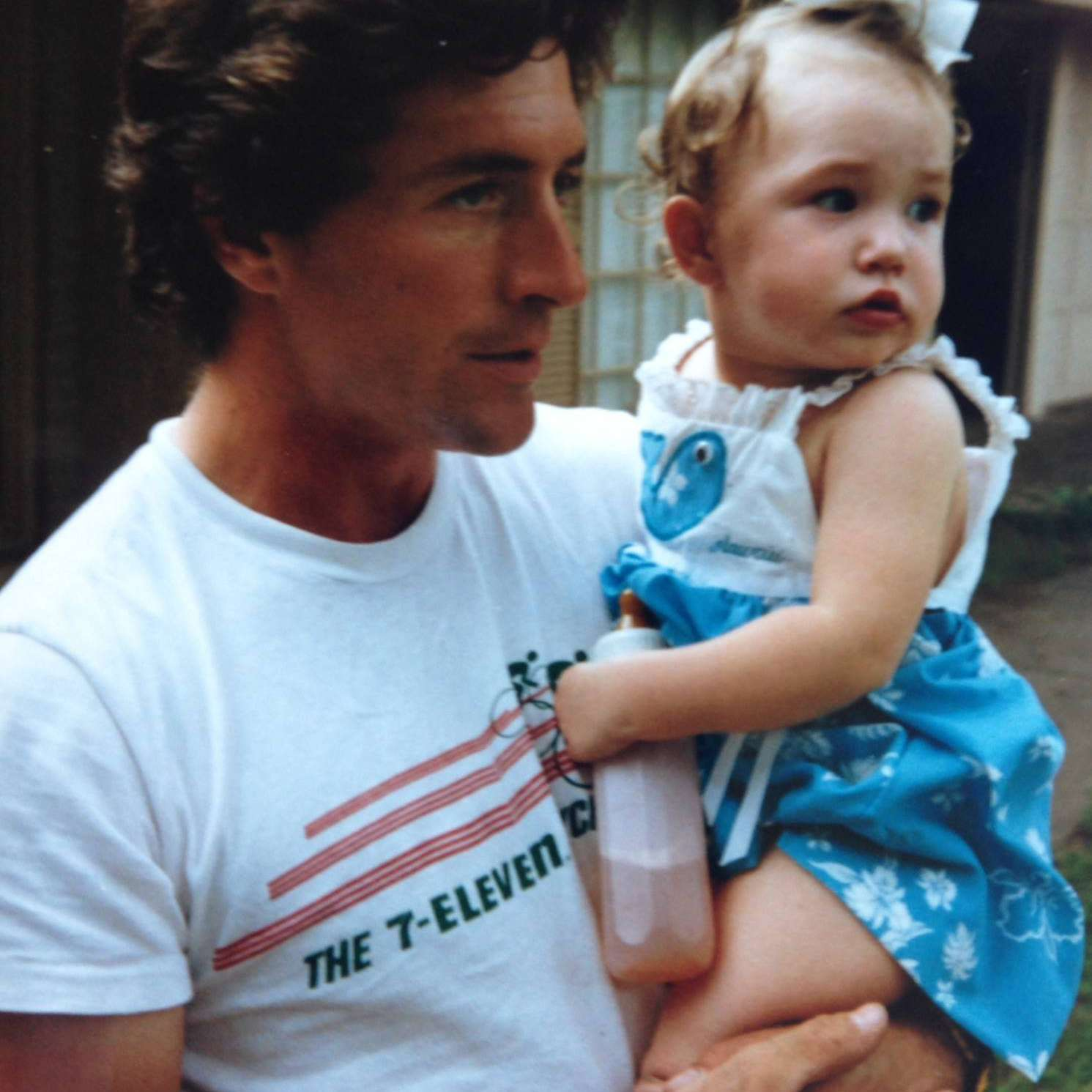 Photo of editor Laura Ratliff as a child with her father