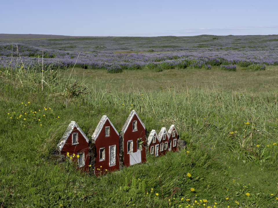 Elves houses in Iceland.