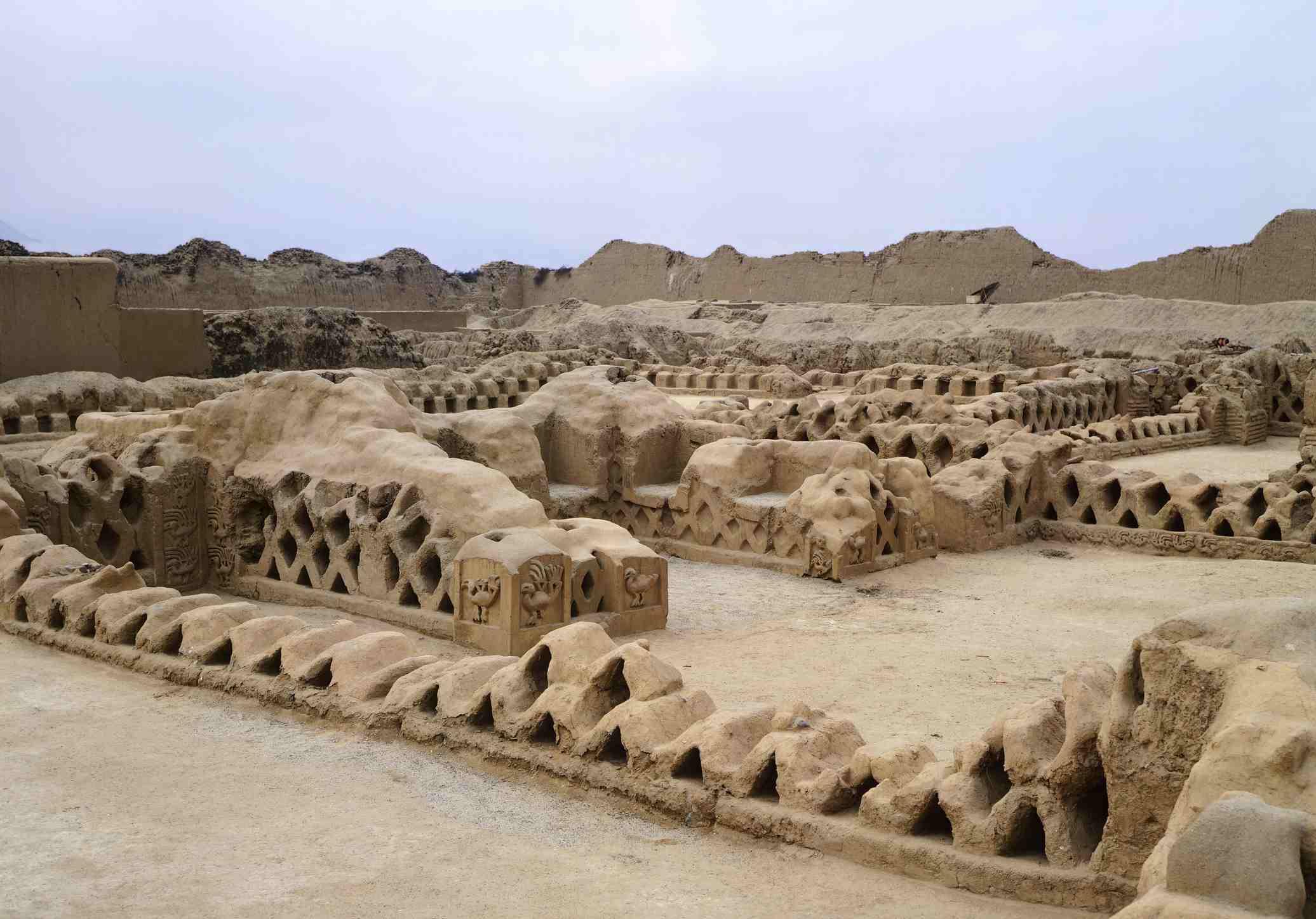 The ritual center of the Tschudi Palace in Chan Chan (Peru)