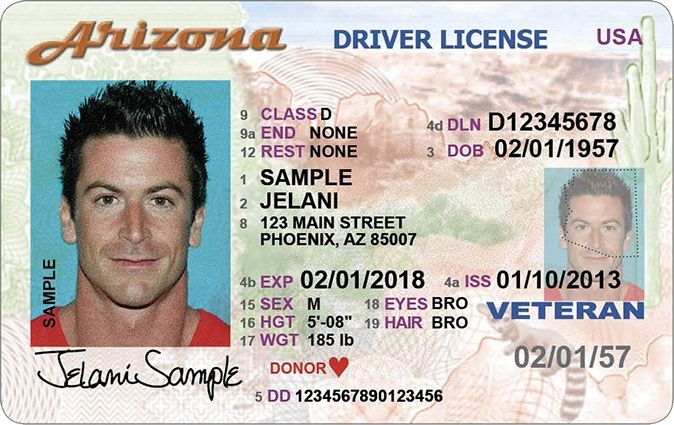 Drivers Real License Id Arizona Vs Card