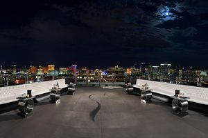 The Patio and View at the Ghostbar at Palms Las Vegas