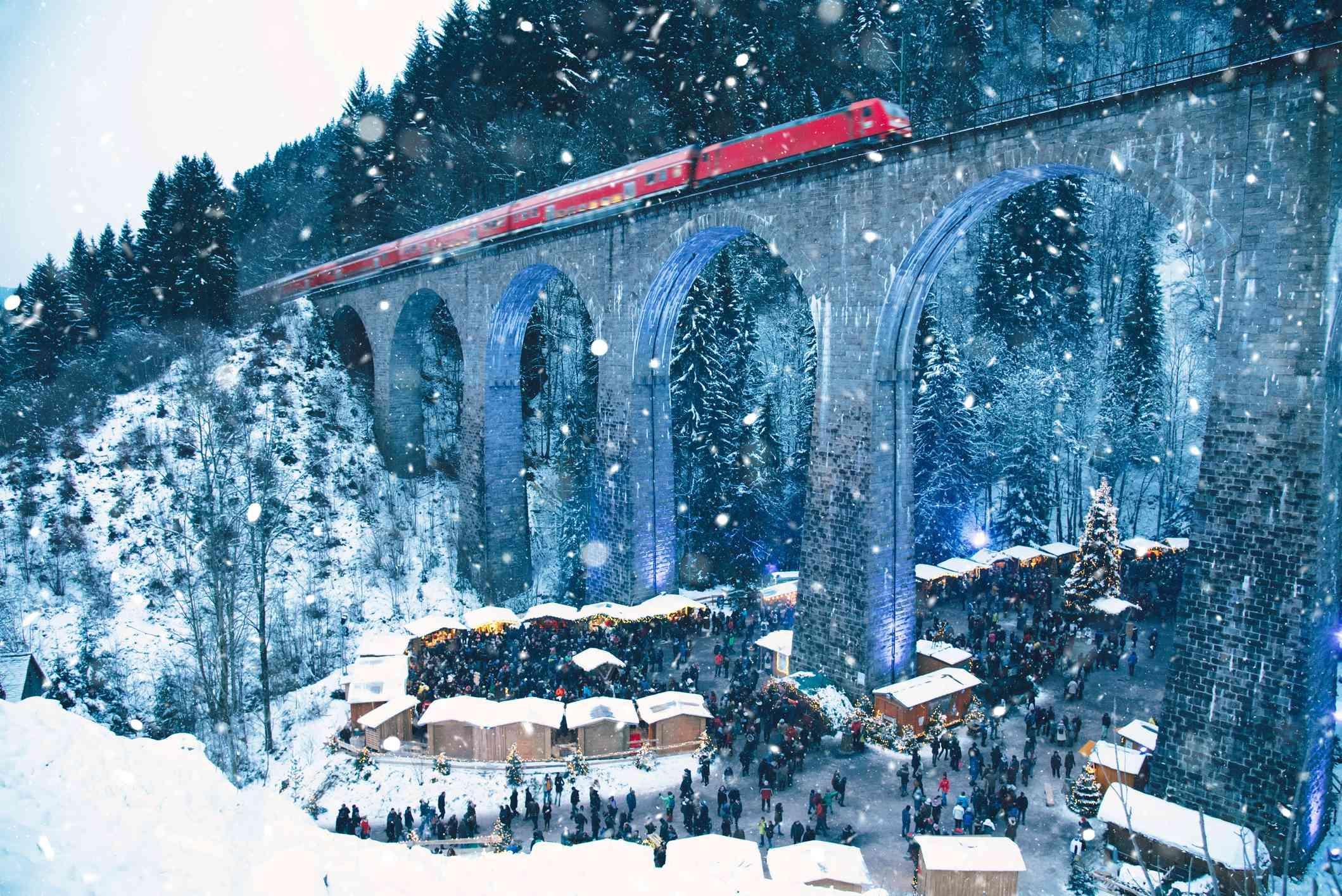 Ravenna Gorge in snow
