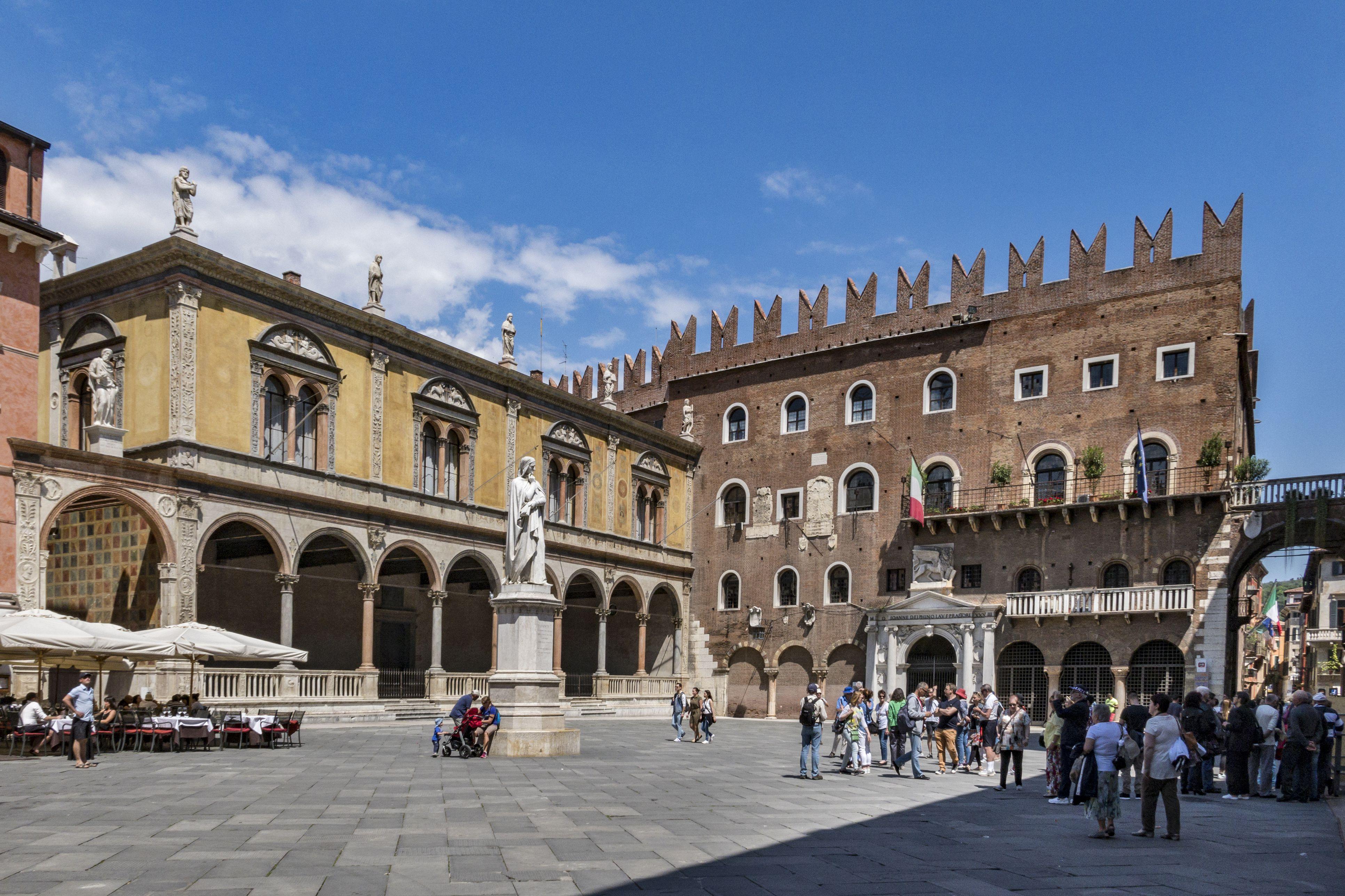 Piazza dei Signori old Verona, Italy