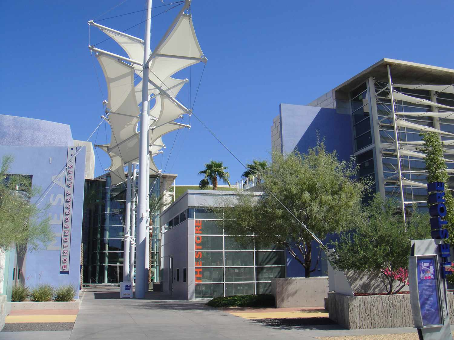 Photo of one of the entrance areas to the Mesa Arts Center
