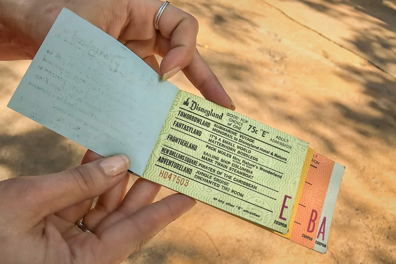 An Original Disneyland E-Ticket from 1968